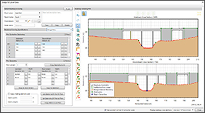 HEC-RAS specific tools offer a more efficient way to create and analyze rivers, streams, bridges, culverts, inline structures, and more. Define cross sections that dynamically update as terrain data is changed. Quickly define levees, ineffective flow areas, conveyance obstructions, roughness subareas using specialized HEC-RAS tools.